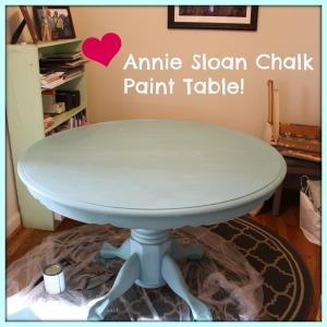annie sloan chalk paint table