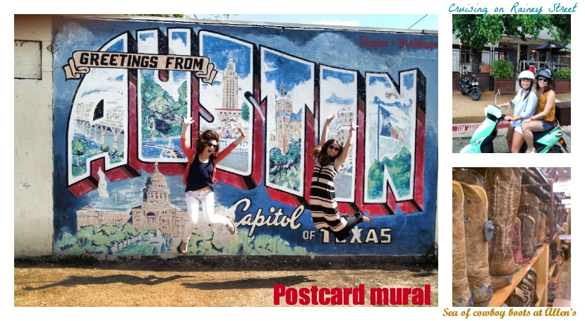 Authentically austin gypsy soul for Austin postcard mural